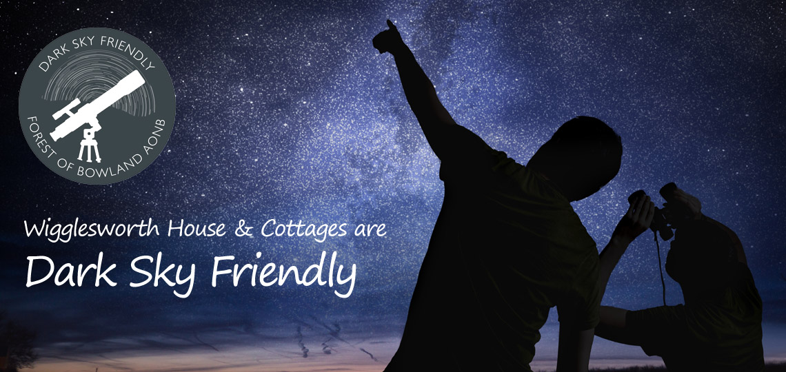 Wigglesworth House and Cottages are Dark Sky Friendly and offer a dark Sky Welcome Pack