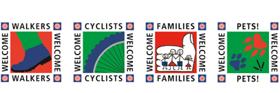 Walkers, Cyclists and Families Welcome Logos